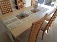 Marble table set - Dining table, coffee table & 6 chairs.