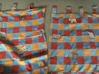 Curtains - pair of children's curtains with black out lining backs