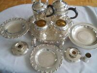 Antique Wm Rogers Tea Coffee Set & more