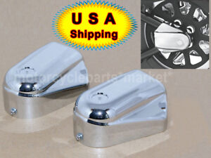 USA 2X Chrome Rear Axle Phantom Cover For Harley Softail FLSTC FLSTN FLS FXSTB