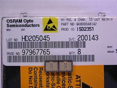 OSRAM Opto ISD2351 Serial  Small Alphanumeric Sunlight Viewable Display Yellow