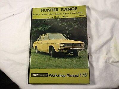 Hunter Range Repair Manual 176 Inc Sceptre Vogue Gazelle Alpine Rapier From 1967