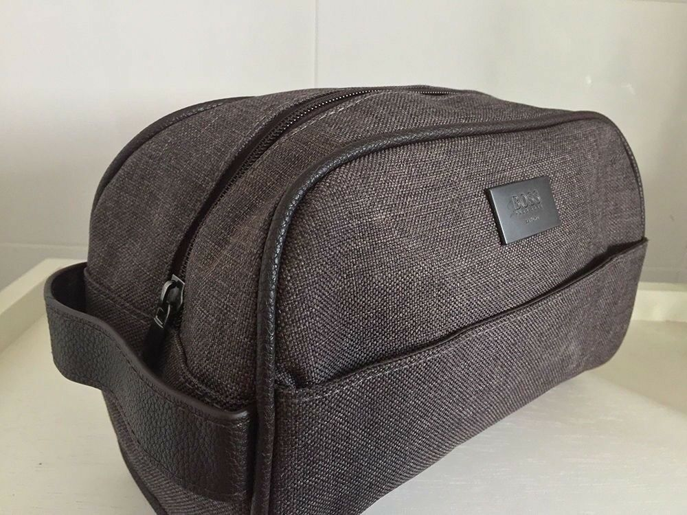 dc188851b9 HUGO BOSS Toiletry   Travel   Wash Bag Grey