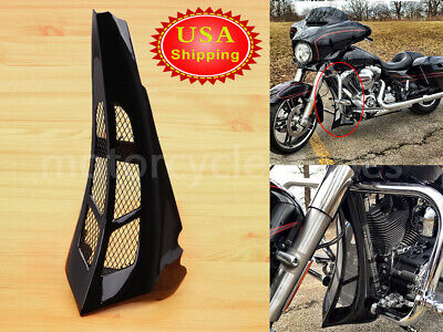 US Gloss Black Chin Spoiler Scoop Fits For Harley Road Glide Street Glide 14-19