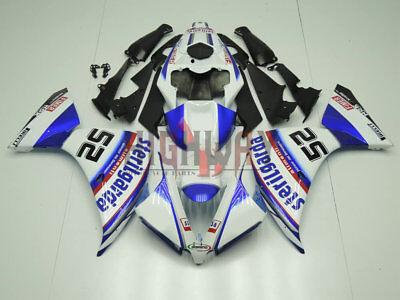 Motorcycle ABS Fairings Body Work Kits Set fit Yamaha YZF-R1 13-14 white black