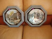 KEIRSTEAD MILL SCENE MATCHING FRAMED COLLECTORS PLATES