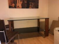 Glass dinning table with chairs