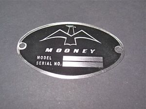 Classic-Mooney-Aircraft-DEA-Required-034-Aircraft-Identification-Data-Plate-034