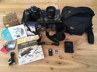 Nikon D5300 Digital SLR Camera HD 24.2MP Wi-fi with Nikon 35mm f1.8G lens