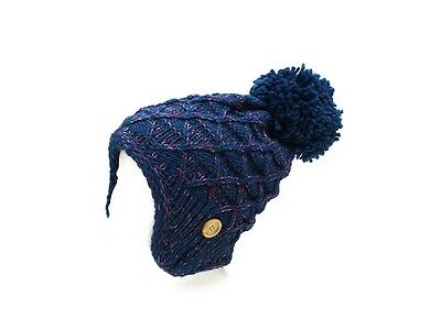 - Pom Pom Accent Earflap Thick Winter Knitted Fashion Beanie ~ Gift Idea!