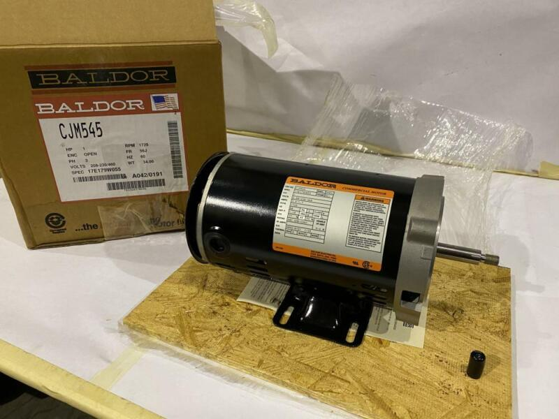 BALDOR 1HP AC PUMP MOTOR # CJM545  208-230/460VAC  60HZ. 1725RPM  FRAME: 56J