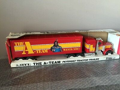 Vintage 1983 Ertl The A Team 1 25 Scale Peterbilt Tractor Trailer Mr T  Rare