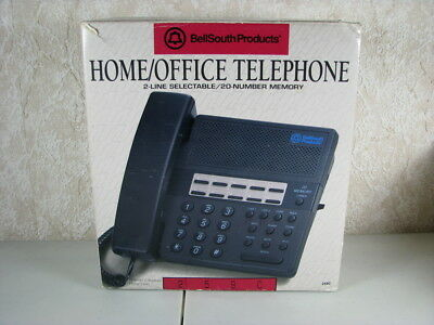 Bellsouth Home Office Landline Telephone 2 Line Selectable 20 Number Memory 259c