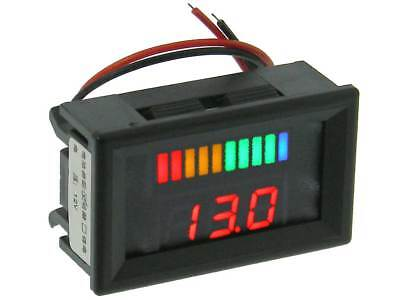 Mini Panel Meter Charge Monitor Snap-in12vdc 32322 Me