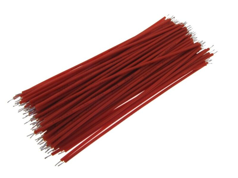 【4CM】 30AWG Standard Jumper Wire Pre-cut Pre-soldered - Red - Pack of 300