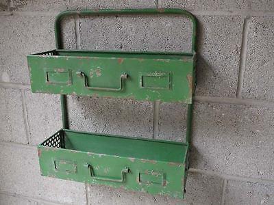 Retro Industrial Vintage Wall Storage Shelf Unit Or Shabby Chic Planter