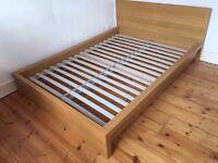 Ikea MALM Super King Bed Frame - Oak