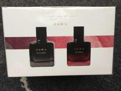 ZARA RED VANILLA EAU DE TOILETTE + BLACK AMBER 2 x 100 ML FRAGRANCE PARFUM