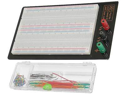 1660 Tie Point Solderless Breadboard Mounted Panel With Jumpers 24445 Te
