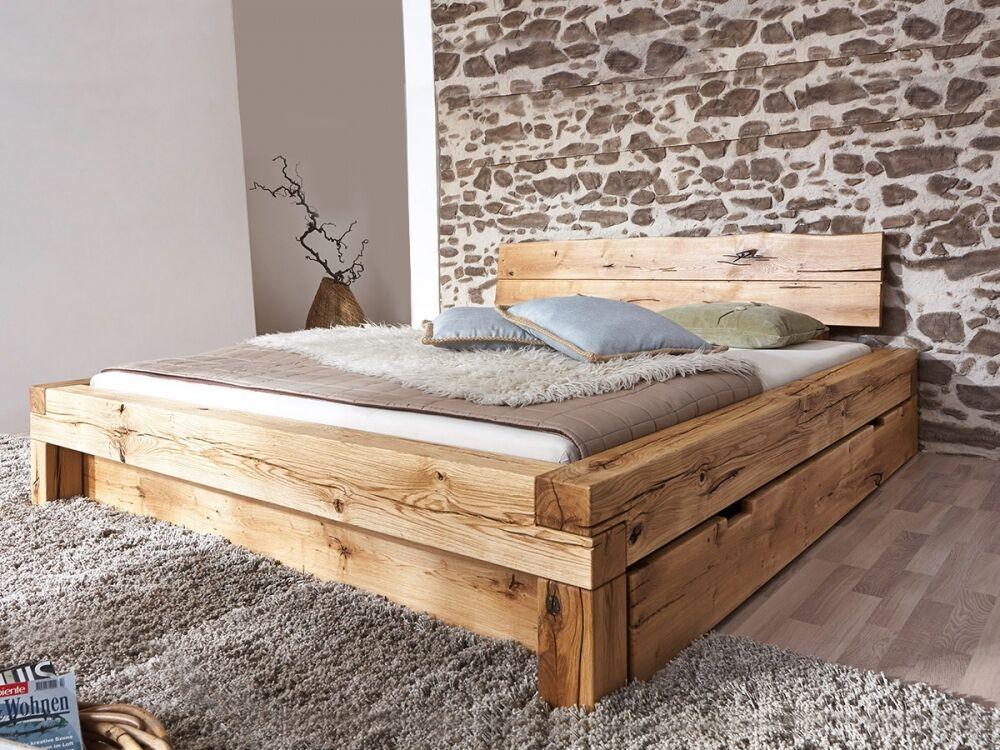 lias massivholzbett singlebett bett eiche massiv ge lt inkl kopfteil 140x200 cm eur 999 00. Black Bedroom Furniture Sets. Home Design Ideas