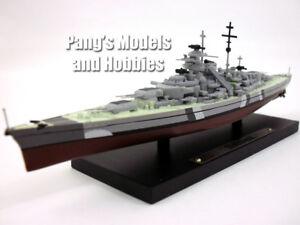 German Battleship Bismarck 1/1250 Scale Diecast Metal Model Ship by Atlas
