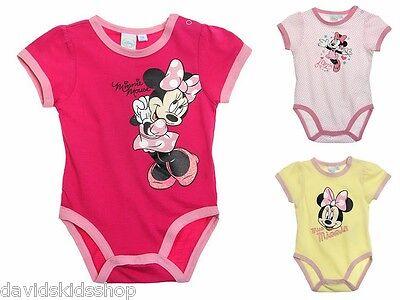 Minnie Mouse süßer Baby Body Kurzarm  Baumwolle Gr 62 68 80 86 92 online kaufen