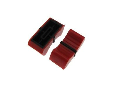 Knob Cap For 8mm Shaft Slide Pot Potentiometer 25x11mm - Red - Pack Of 5
