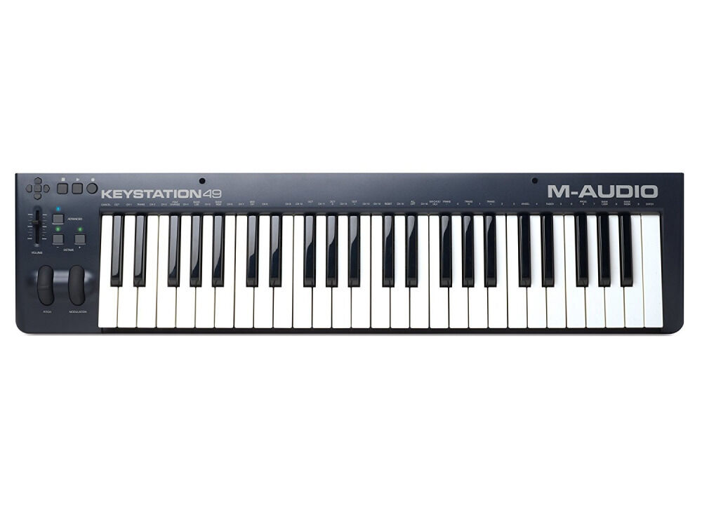 m audio keystation 49 mkii 49 note usb midi controller keyboard new ebay. Black Bedroom Furniture Sets. Home Design Ideas