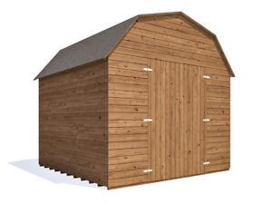 Dutch Barn Style Garden Shed Tool Storage Workshop Heavy Duty Timber - 8x8