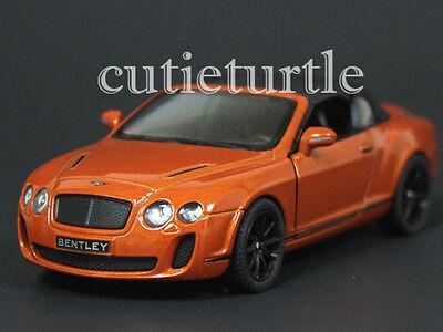 Kinsmart 2010 Bentley Continental Supersports Soft Top 1:38 Diecast Orange Brown