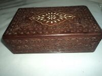 Vintage carved Indian box