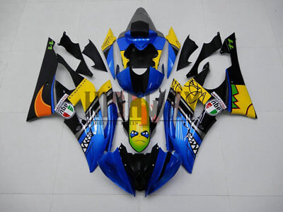 Motorcycle ABS Fairings Body Work Kits Set fit Yamaha YZF R6 08-16 blue Painted