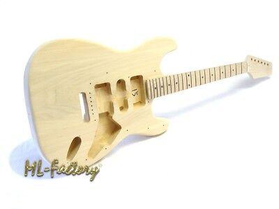 E-Gitarren-Bausatz/Guitar Kit ML-Factory® Style I Linde/Ahorn ohne Hardware gebraucht kaufen  Algenstedt