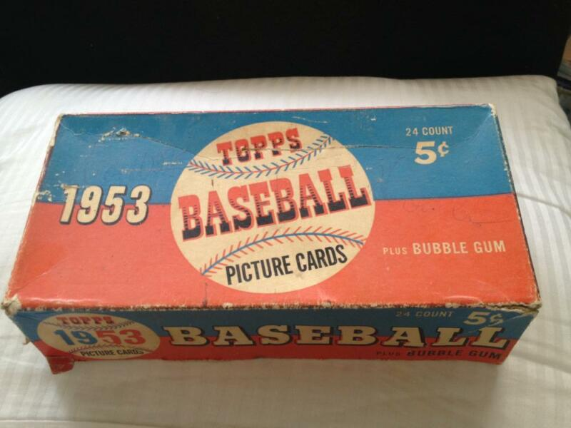 1953 Topps Baseball Card Set Empty Display Wax Pack Box 5 Cent