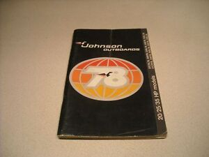 VINTAGE 1978 JOHNSON OUTBOARDS OWNERS MANUAL
