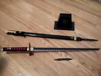 Very Rare Franklin Mint Samurai Sword with stand