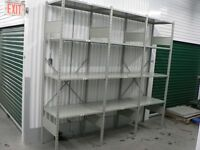 Used 2' x 3'bolt less Industrial metal shelving