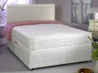 CHEAPEST PRICE EVER DOUBLE DIVAN BED BASE INCLUDING MATTRESS (Headboard Optional)