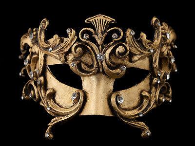Mask from Venice Colombine Barocco Bronze Golden Authentic Paper Mache 1961 V19
