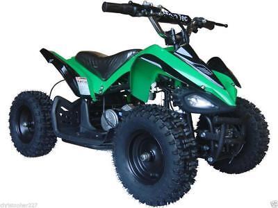 Electric Four Wheeler Kids ATV Green Mini Quad Dirt Bike Ride On Electric Batter for sale  Ontario