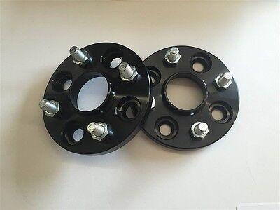 2 Pcs Hub Centric Black Wheel Spacers   4X114.3 4X4.5   66.1 CB   12X1.25   25MM