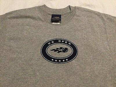 US OPEN Gray Short Sleeves Tee Shirt (USTA Tennis) 90% COTTON ADULT MEDIUM - NEW