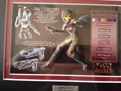 STAR WARS ACME ARCHIVES 2015 STAR WARS REBELS CHARACTER KEY SABINE -