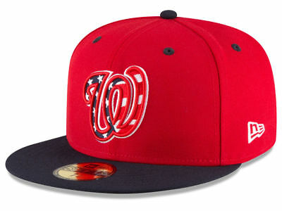 New Era Washington Nationals ALT 3 59Fifty Fitted Hat (Red/Navy) MLB Cap