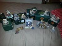 """11 pieces of like new """"Bears &Friends"""" collectables only $45"""