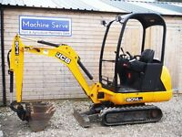 Mini Digger JCB 8014, 3 buckets, good tidy excavator.