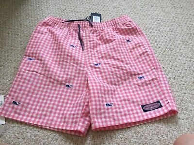 NWT Vineyard Vines Boys Micro Gingham Chappy Trunks Bathing Suit Size 2T