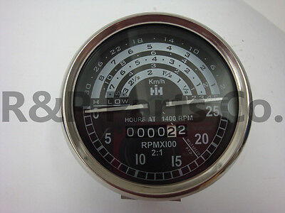 Tachometer Kph For International Ih B250 B275 B414 276 354 434 444 80mm M12x
