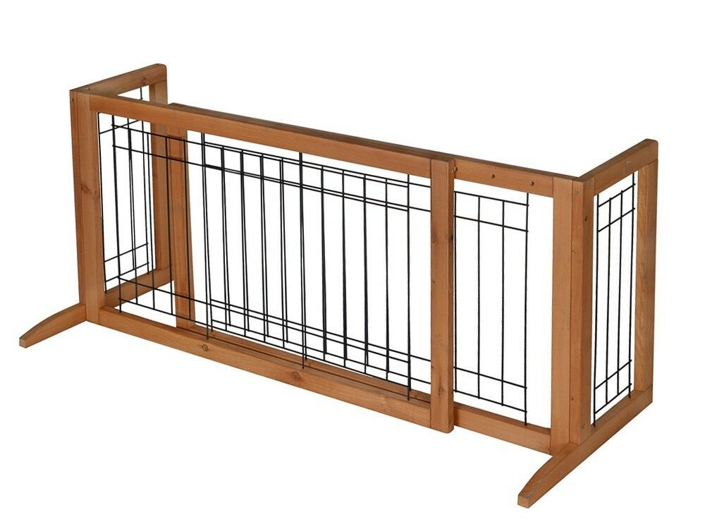 Adjustable Indoor Solid Wood Construction Pet Fence Gate