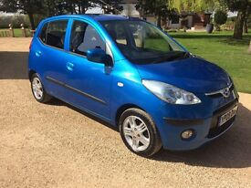 HYUNDAI I10 1.2 Style, FSH, MOT April 2018, £30 Tax, TOP SPEC (blue) 2009